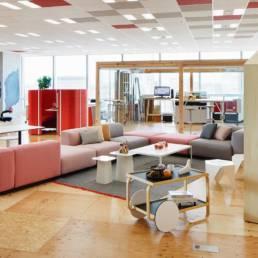 Aménagement espace lounge entreprise