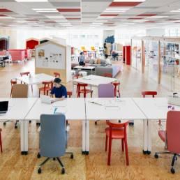 Aménagement floor entreprise - Coworking espaces collaboratifs