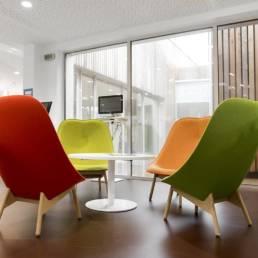 Aménagement espace lounge Médiathèque