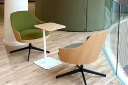 Fauteuil lounge pour espace détente d'entreprise