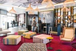 Aménagement lobby d'hôtel - Mot de Passe Mobilier