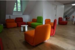 Ameublement espace lounge école