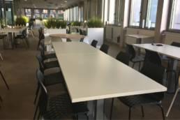 Ameublement du restaurant de la CPAM de Lille - Mot de Passe Mobilier