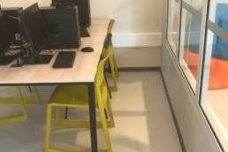 Ameublement espace informatique - Médiathèque de Templeuve