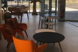 Espace lounge médiathèque de Templeuve