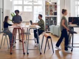 Aménagement coworking / espace lounge - Mot de Passe Mobilier